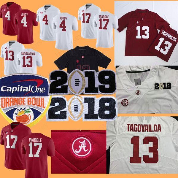 College NCAA Alabama Crimson Tide Football Jersey Tua Tagovailoa Najee Damien Harris Jerry Jeudy Jaylen Waddle Namath Hurts Wilson 2019