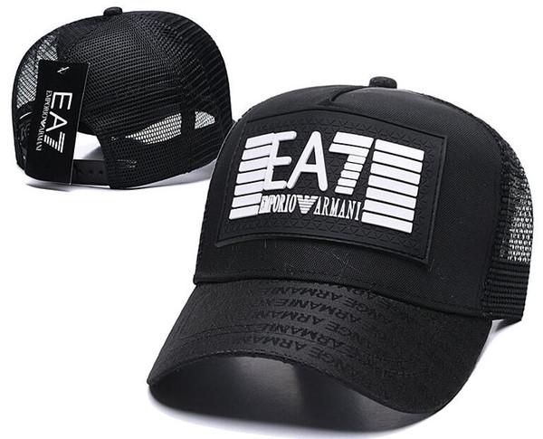 Lüks Kadın Erkek Marka Tasarımcısı Emporio EA 7 7.0 Rahat Kap Popüler Örgü Beyzbol Şapkası Avant-garde Patchwork Eashion Hip Hop Kap Şapkalar 01