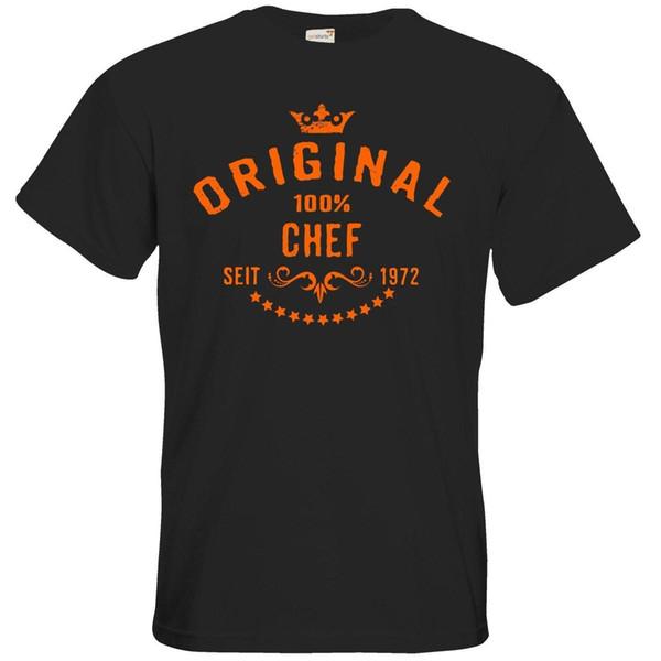 Getshirts Geschenke T-Shirt Beruf Chef seit 1972 Mens 2018 moda Marca Camiseta O Pescoço 100% algodão T-Shirt Tops Tee