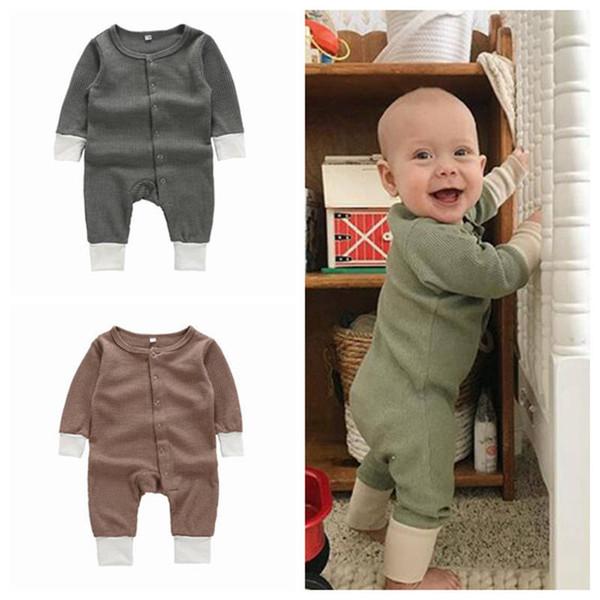 Kinder Designer Kleidung Junge Mädchen Feste Farben Strampler Baumwolle Langarm Overalls Neugeborene Onesies Kleinkind Bodysuits Weihnachtsgeschenke YL950