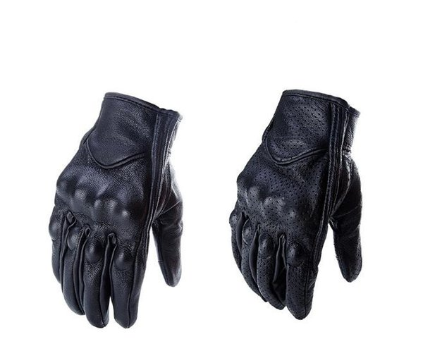 best selling Cowhide Leather Goves Cycling Outdoor Sport Moto Full Finger Gloves Motocycle Gloves LeatherMens&Women Motorbike Riding Off road Gloves
