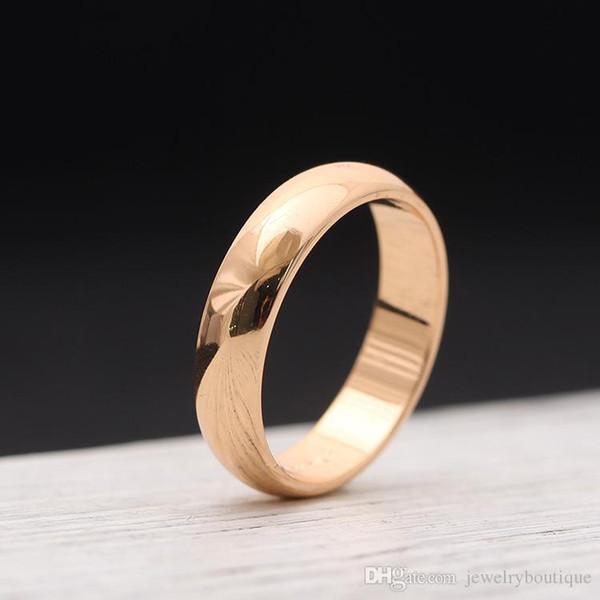 Oberflächen Liebhaber Ringe 18K Rose Gold und Silber 316L Edelstahl für Frauen und Mann-Band-Ringe in 0.45cm Breite Schmucksachen Verschiffen frei PS549