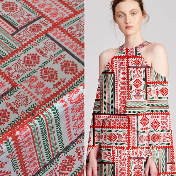 140 cm de ancho de marca de tela de seda de flores antiarrugas crepe de chine tela de seda drapeado vestido de camisa de crepe de tela al por mayor