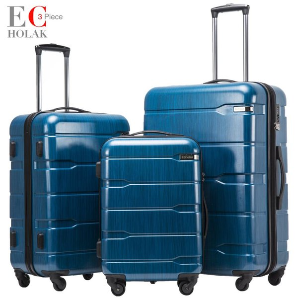 3 Piece Set suitcases Travel Luggage Suitcase Travel Rolling luggage bags On Wheels Wheeled Suitcase trolley bags