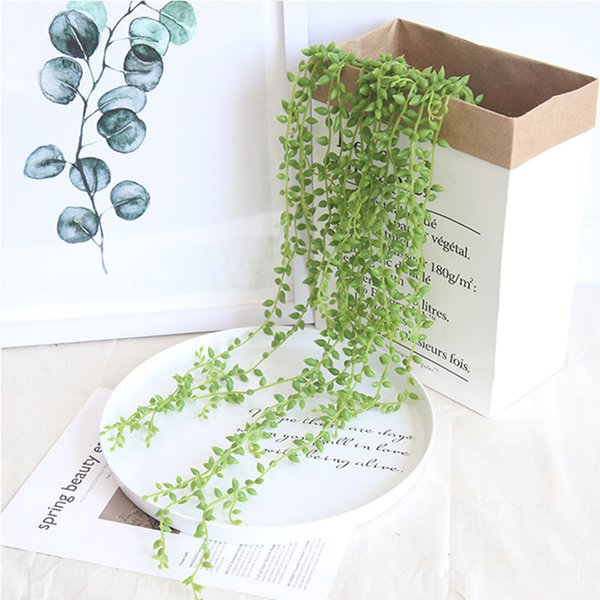 2019 Artificial Lover's Tear PU High Copy Artificial Flower Vine Party Wedding Decoration Home Decorations LOL Wedding Products