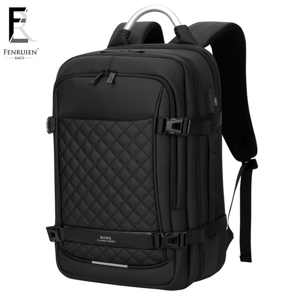 Frn Men Backpack Multifunction Usb 15.6 Inch Laptop Mochila Fashion Business Large Capacity Waterproof Travel Backpack For Men Y19061102