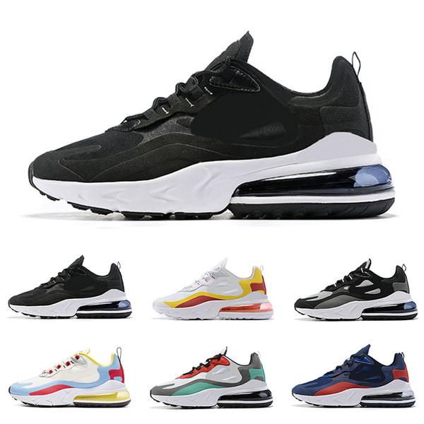 Nouvelle arrivée réagissez hommes chaussures de course top qualité triple noir blanc gris mode hommes formateurs respirant sport baskets taille 40-46
