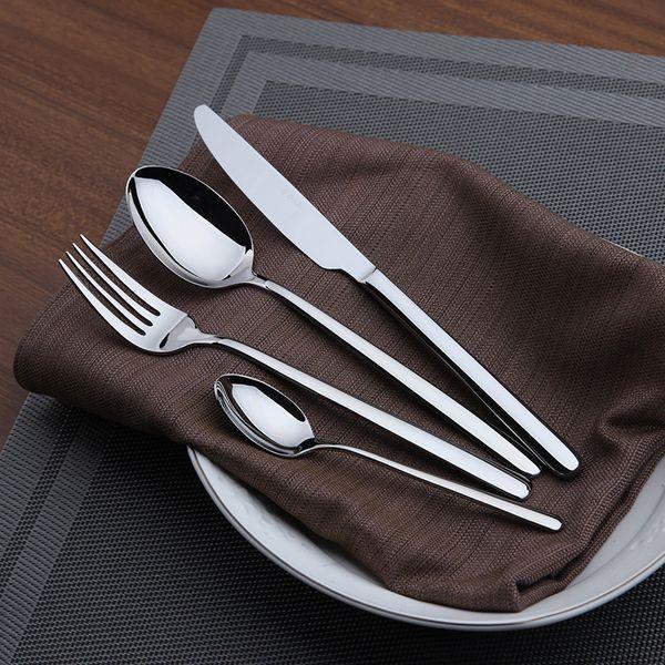 Set di posate Set di posate da 24 pezzi Set da tavola occidentale in acciaio inossidabile Set da pranzo classico Coltello Forchetta Ristorazione Ristorante