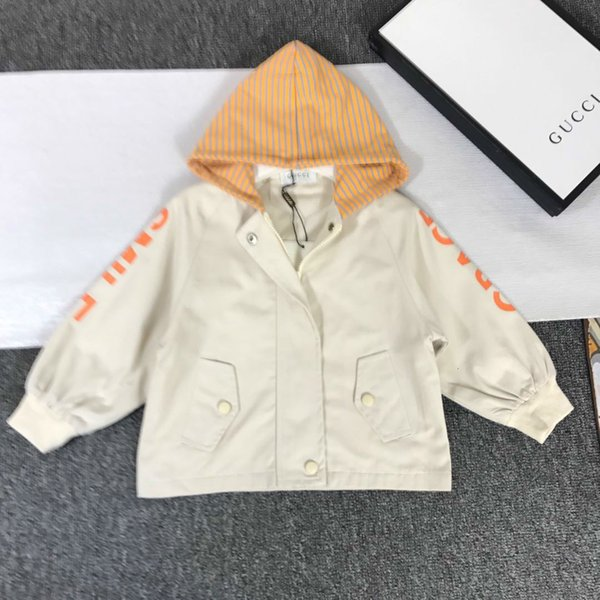 Children designer clothing 2019 autumn new fashion dog embroidery closing hooded shirt fabric comfortable boys and girls with cardigan coat