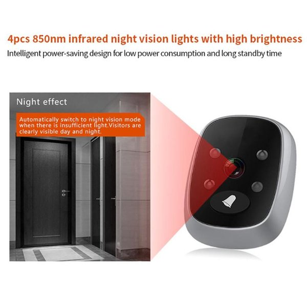 3.5 inch TFT LCD Screen Visual Door Bell Viewer WiFi IR Night Door Peephole Camera Video Recording Digital Camera for Home
