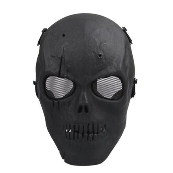 SDFC Masque crâne Masque de protection complet - Noir