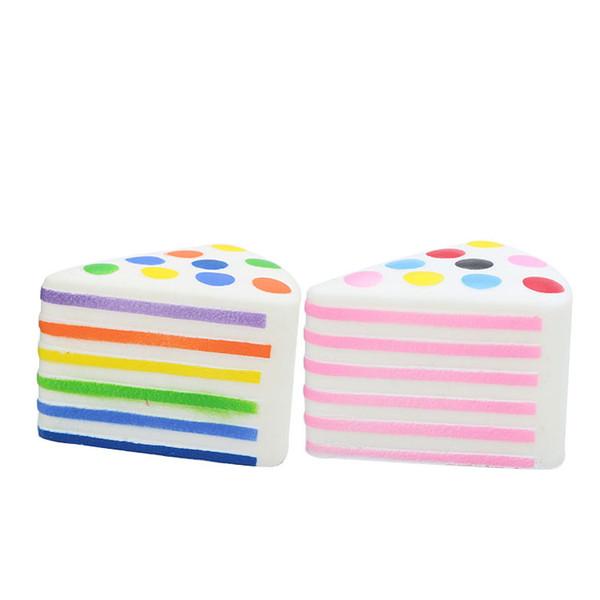 Bolo do arco-íris Squishies Lento Rising Macio Jumbo Brinquedos Squishy Creme Perfumado Dos Desenhos Animados Stress Relief Toy para Adultos Meninos Meninas Presente
