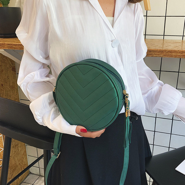 bolsos para mujer women shoulder bag round bag female handbag designer handbags crossbody bags for women 2019 pu leather handbag