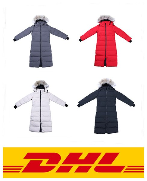 2019 canada brand women down parka new thick warm and windproof waterproof long ection lim olid color goo e down jacket female winter, Black
