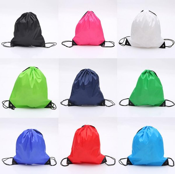 Custom Drawstring Bag Clothes Shoes Bags School Outdoor Hiking Sport Gym Dance Backpacks Nylon Backpack Polyester Cord Bag