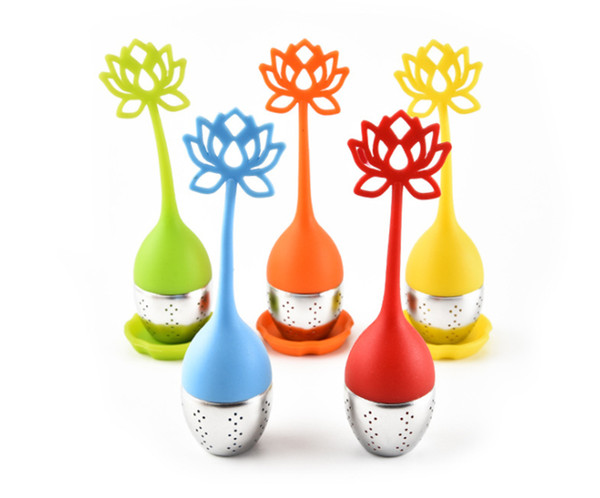 Lotus Tea Infuser Filter Silicone Tea Strainer Teapot For Loose Leaf Herbal Spice Filter Kitchen Tool Free Shipping