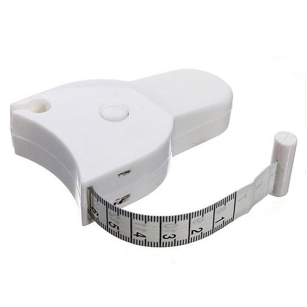 Fitness Accurate Body Fat Caliper Measuring Body Tape Ruler Measure Mini Cute Tape Measure White Drop ShippingAA-1227