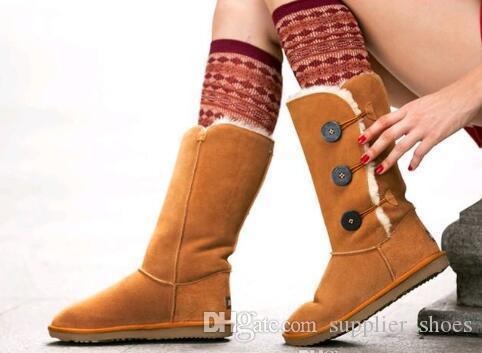 Bottes classiques de haute qualité pour femmes de haute qualité WGG Bottes pour femmes Bottes bottes neige bottes d'hiver bottes en cuir