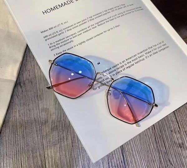 Солнцезащитные очки 2019, многоугольные, ультрасовременные солнцезащитные очки для женщин весна / лето, новые индивидуальные морские линзы