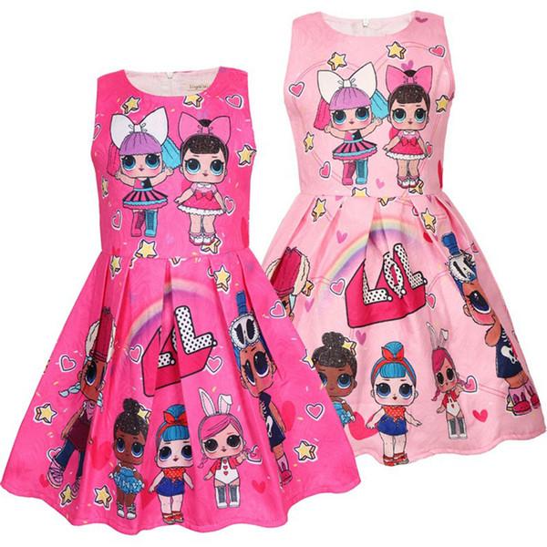 Compre Hot Baby Lol Niñas Vestidos 3 9y Verano Lindo Vestido Elegante Fiesta De Niños Disfraces De Navidad Niños Ropa Princesa Vestido De Ropa Es A