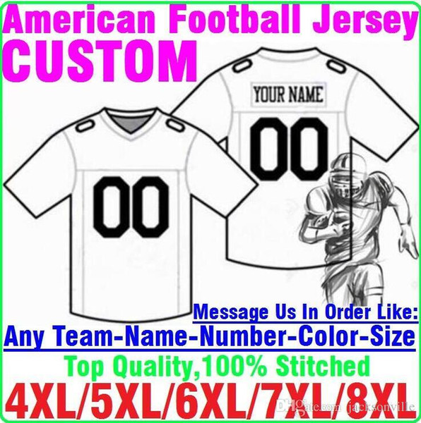 Personnalisé maillots de football américain Personnalisé Tennessee Denver collège authentique pas cher baseball basketball maillot de hockey 4xl 5xl 8xl