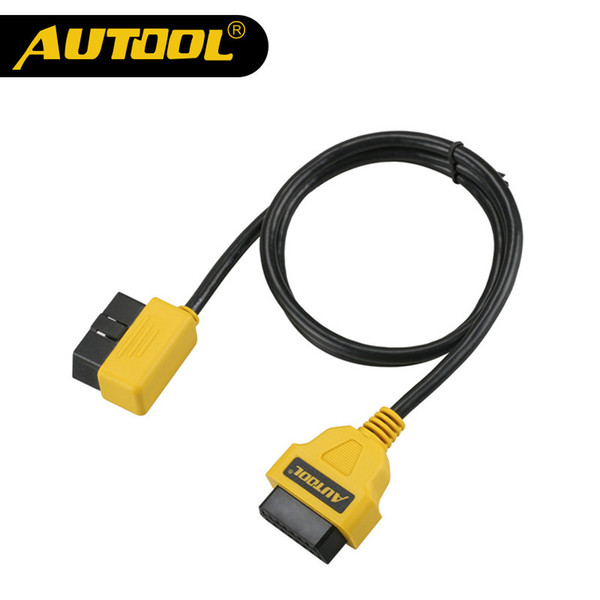 AUTOOL OBD2 16 Pin Male To Female Diagnostic Extension Cable Connector 30CM