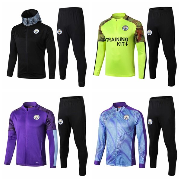 Survetement Tracksuits 2019 2020 2021 Manchester Soccer Sets home away city tracksuit hoodies training football jacket set