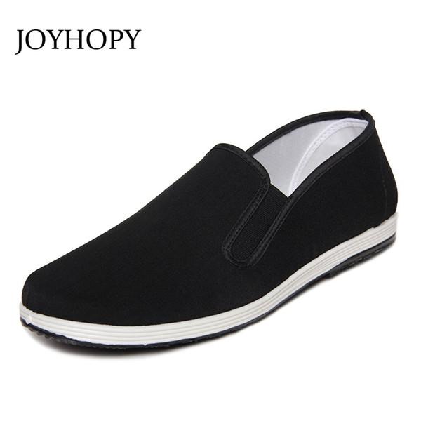 Nuevo 2014 zapatos de tela negro hombres mocasines de boca zapatos de tela de algodón casual masculino kung fu moda hombre pisos # 312597