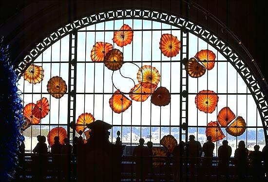 Wandteller aus 100% mundgeblasenem Glas Luxury Art Hotel Lobby Gallery Wall Plates Mehrfarbige Wandleuchten
