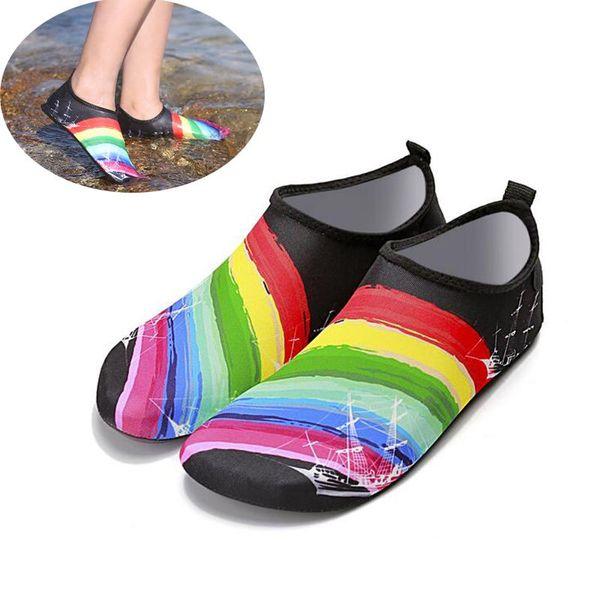 Playa Deportes acuáticos Buceo Calcetines 5 colores Natación Snorkel antideslizante Zapatos de playa junto al mar Calcetines de surf transpirables Zapatos de traje