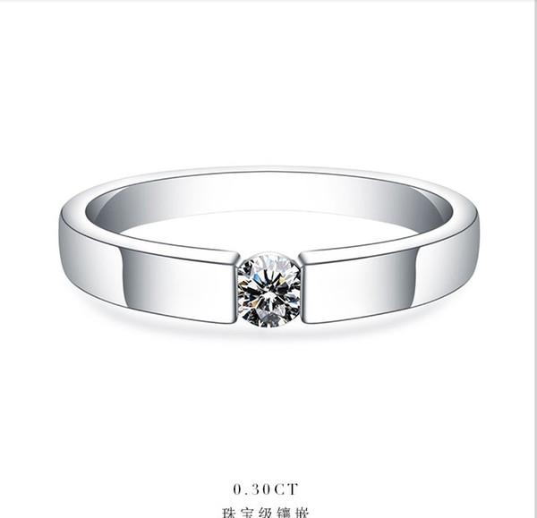 0.25CTW 4mm G-H Moissanite Wedding Ring CHARLES & COLVARD WARRANTY 925 Sterling Silver Women's Synthetic Diamonds Ring