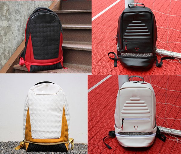 top popular Brand Backpack leather Jumpman 13 Designer bag backpack Mens Womens Teenager Black red yellow Blue Outdoor Basketball Backpack 6 Colour 2019