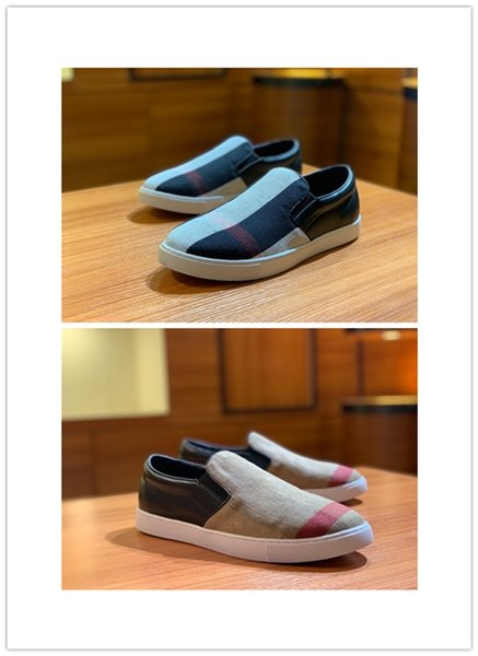 2019 New Designer Model Shoes Hot Sale Men Casual Sneakers Luxury Classical Sneakers Leather and fabric Leisure Brand Fashion Shoes