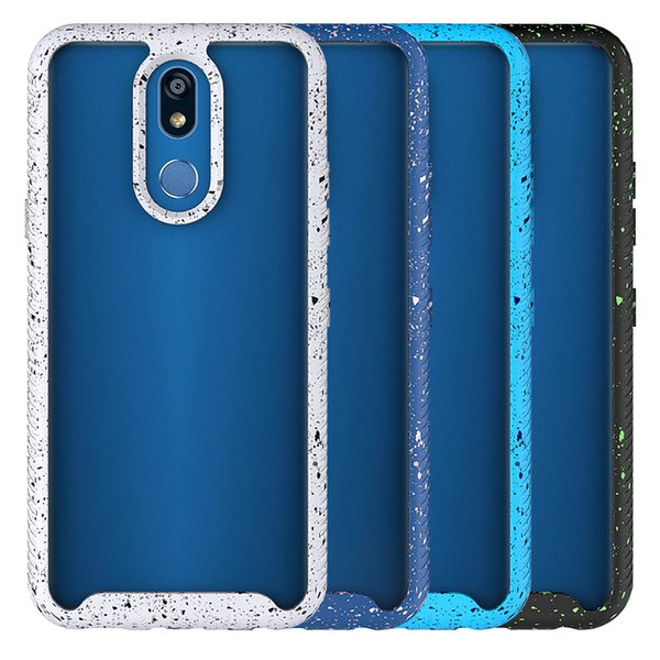 For LG K40 Case PC TPU Shocproof Anti Drop Colorful Ink Phone Case Moto G7 Power G7 Play E5 Plus Phone Frame