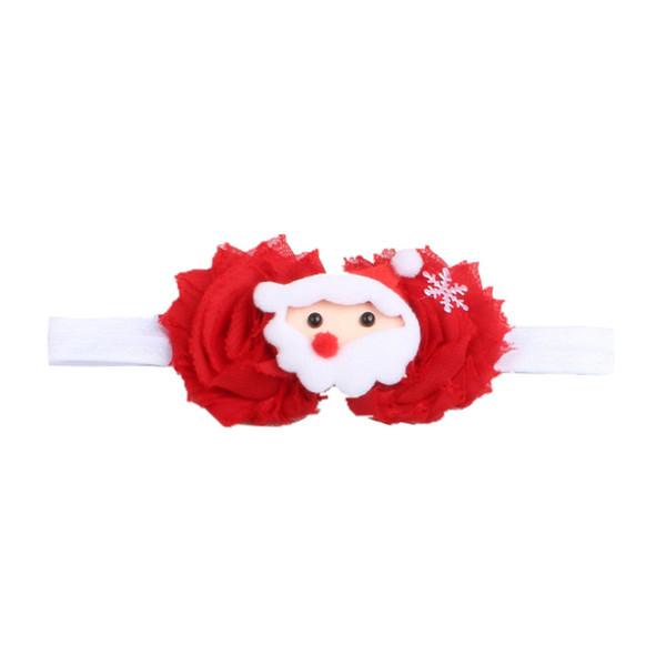 Kinder Mädchen Stirnbänder Weihnachtsdekoration Stirnband Haarschmuck Neugeborenes Mädchen Cute Floral Hair Band