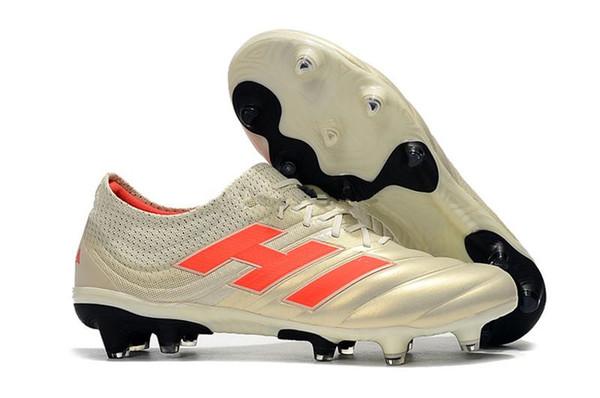 Compre ADIDAS Copa 19 Hot Slip On Champagne Sapatos De Futebol De Futebol Vermelho Solar Botas Scarpe Calcio Chuteiras 19 + 19.1 FG SOCKFIT AG 19 + X