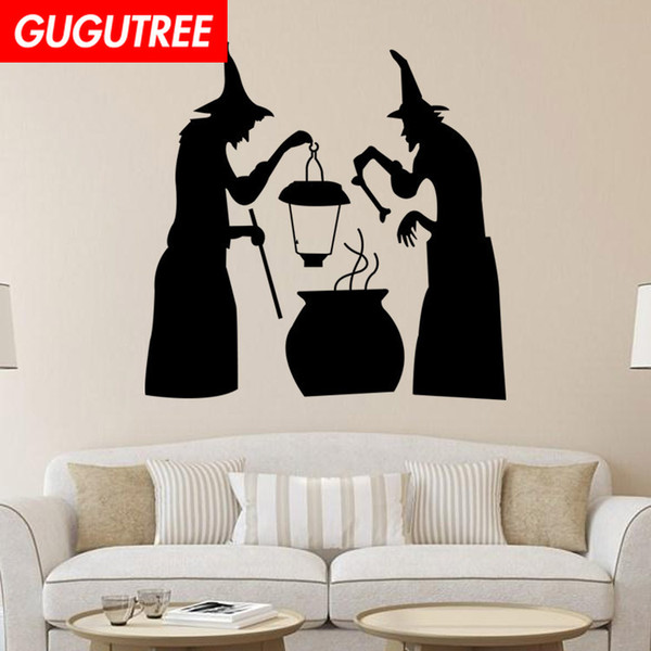 Decorate Home Hallowmas Halloween cartoon art wall sticker decoration Decals mural painting Removable Decor Wallpaper G-2127