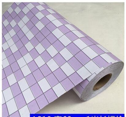 Tile-like papel de parede auto-adesivo cozinha impermeável, à prova de óleo, auto-adesivo banheiro renovação e transformação