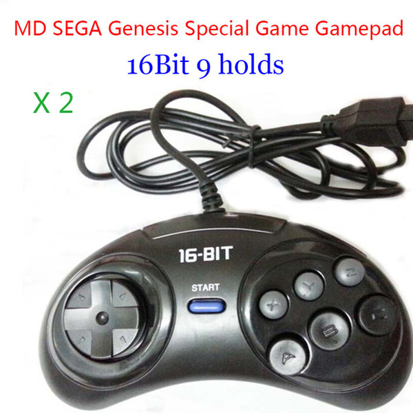 ames & Accessories Gamepads 2pcs MD Gamepads 16bit Genesis Game controller 9 Holes Sega Joypad high quality good price Game Accesso...
