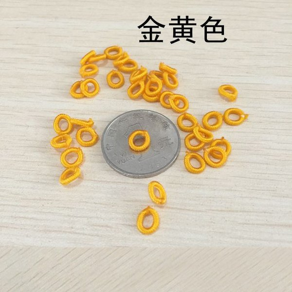 200 PCS 6mm Polyester Chinlon Tassel Jewelry Connectors Handmade Buckle Hand Knitting Coil DIY Jewelry Components