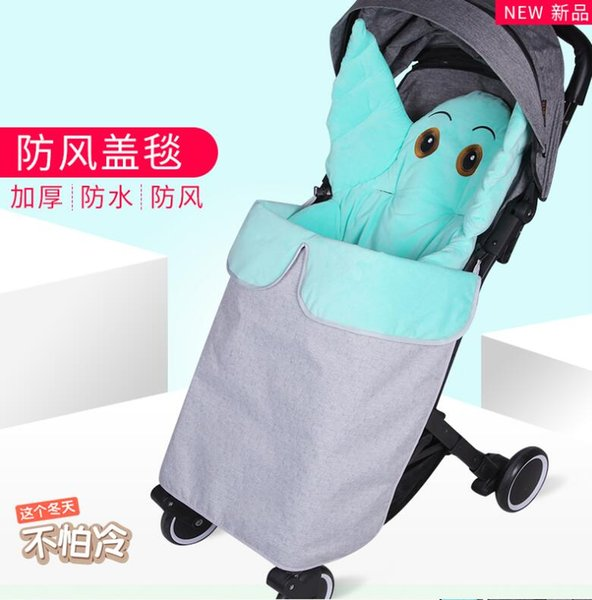Baby stroller windproof blanket autumn and winter warm blanket thickening wind and rain universal baby stroller