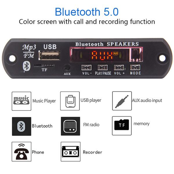 12V Bluetooth MP3 Decoder Board MP3 Player Car Kit FM Radio TF USB 3.5 Mm WMA AUX Audio Receiver For Car accessory