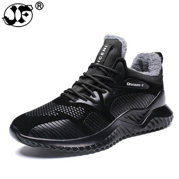 2019 New Men Shoes Winter With Plush Warm Ankle Boots Fashion Wear-resisting Rubber Sole Casual Boots Big Size Male Sneakers hjm