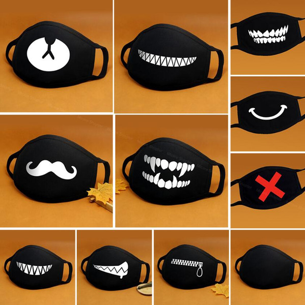 best selling Cartoon Cotton Face Mask Mouth Black Anti-Dust Anti Pollution Respirator Mask Fashion Cute Bear Kpop Animal Face Mouth Masks