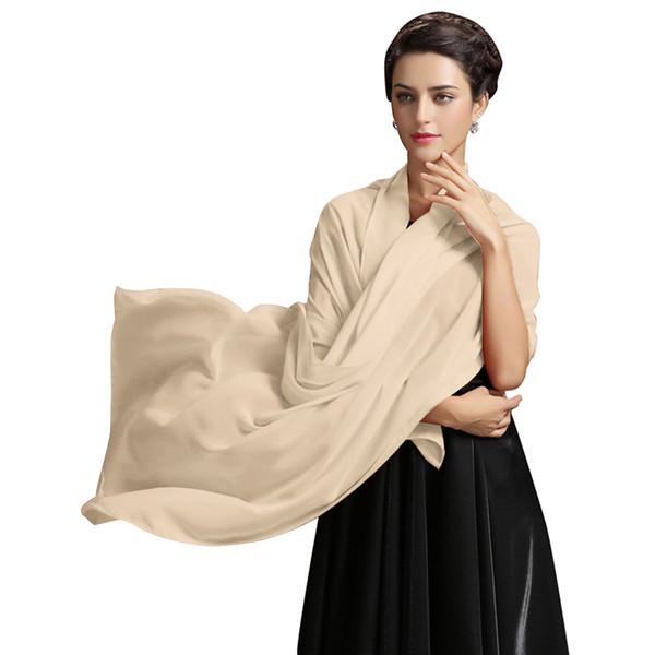 top popular 2019 New Arrival Cheap Women's Chiffon Silk Shawls Scarfs Sunscreen Wild Wrap Beach Neckerchief Cheap Long Scarves In STOCK CPA1658 2021
