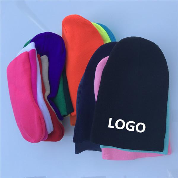 Cappelli a cuffia invernali Stampa Ricami LOGO Cappellino caldo personalizzato moda elasticizzata Unisex Cappelli a cuffia in maglia