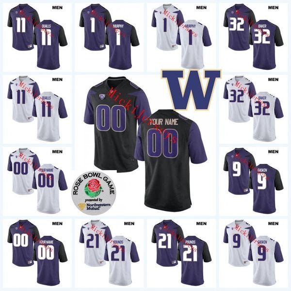 brand new 8bf57 ba32e 2019 Custom NCAA Washington Huskies Football Jersey Ben Burr Kirven Nick  Harris Greg Gaines Drew Sample Tevis Bartlett Washington Huskies Jersey  From ...