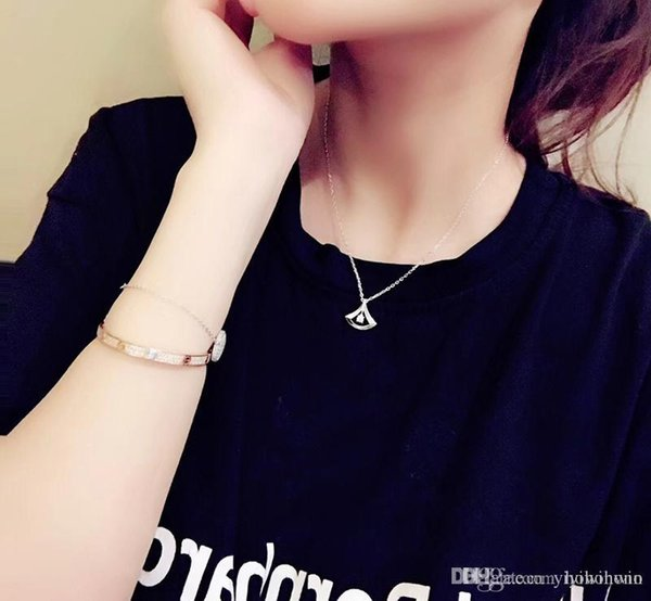 new ladies necklace womens jewelry luxury lady 925 Silver Italy BV collana pendants gold chain pendentif ladies collier femme original box