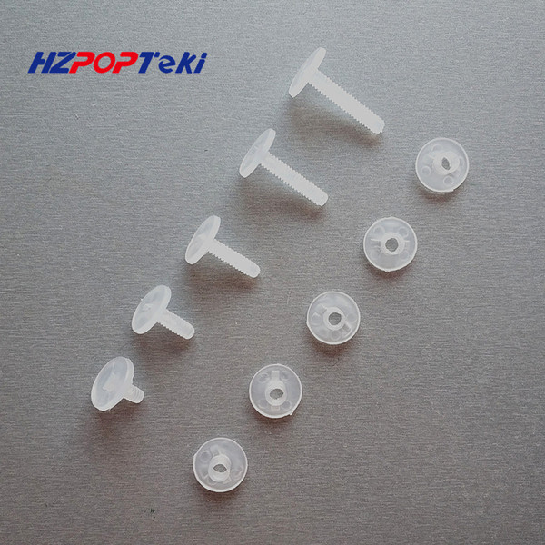 Environmental Plastic Binding Corrugated Nut Fasteners Screws PP Nylon Binder Post Lock Button Rivet Studs Twisted By Hand 200sets/lot