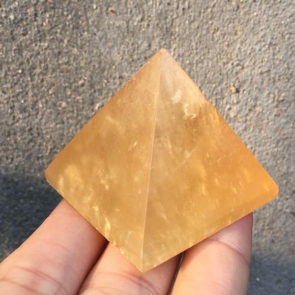 Free shipping Wholesale Natural Yellow Calcite Stone Crystal Obelisk Quartz pyramid selenite stone Mineral Specimen reiki Healing 1pcs